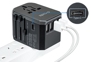 Epicka Travel Adapter with USB-C